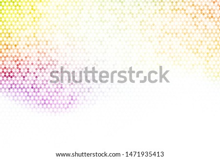 Light Green vector pattern with colorful hexagons. Colorful hexagons on blur backdrop. Design for website posters, banners.