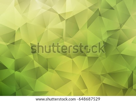 light green vector polygon