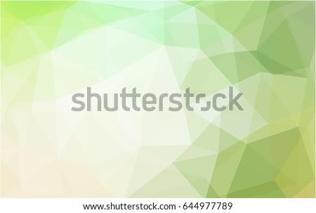 light green vector polygonal
