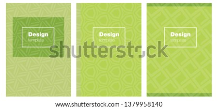Light Green vector style guide for notepads. Booklet with textbox on colorful abstract background. Pattern for leaflets, booklets.