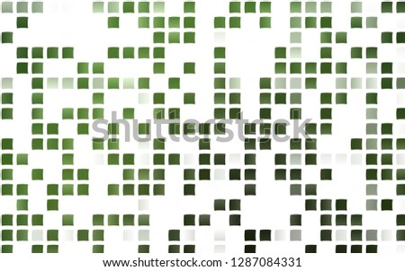 Light Green vector template with crystals, rectangles. Rectangles on abstract background with colorful gradient. Smart design for your business advert.