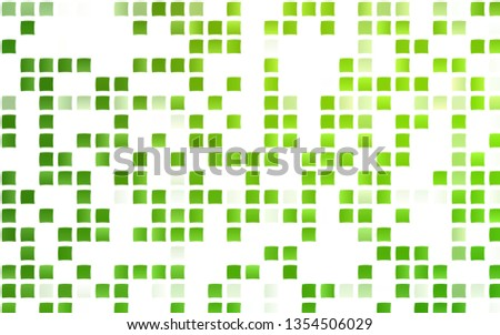 Light Green vector template with crystals, rectangles. Rectangles on abstract background with colorful gradient. Pattern for commercials.