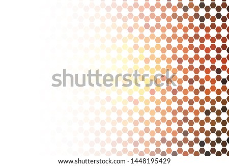 Light Green vector texture with colorful hexagons. Colorful hexagons on blur backdrop. Pattern for ads, leaflets.