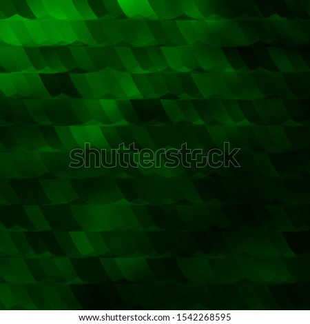 Light Green vector texture with colorful hexagons. Colorful hexagons on blur backdrop. Pattern for landing pages.