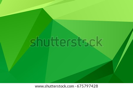 light green vector triangle