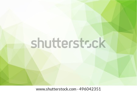 light green yellow low poly