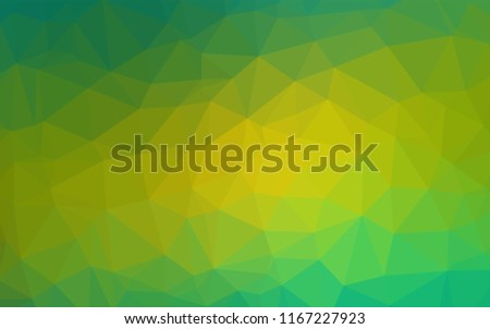 Light Green, Yellow vector abstract mosaic background. Colorful abstract illustration with gradient. The textured pattern can be used for background.