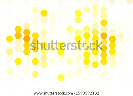 Light Green, Yellow vector background with hexagons. Colorful hexagons on blur backdrop. Design for your business advert.