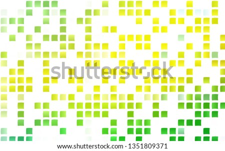 Light Green, Yellow vector background with rectangles. Rectangles on abstract background with colorful gradient. Modern template for your landing page.