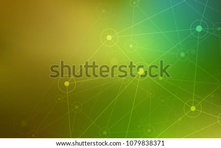 Light Green, Yellow vector layout with circles, lines. Design with connection of dots and lines on colorful background. Beautiful design for your business advert.