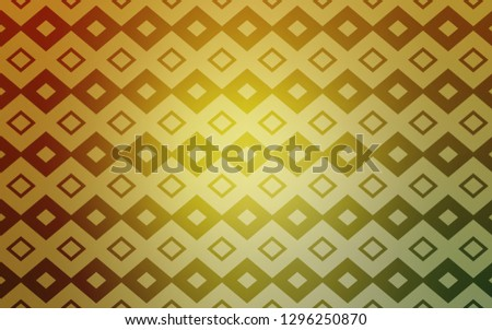 Light Green, Yellow vector layout with lines, rectangles. Rectangles on abstract background with colorful gradient. Modern template for your landing page.