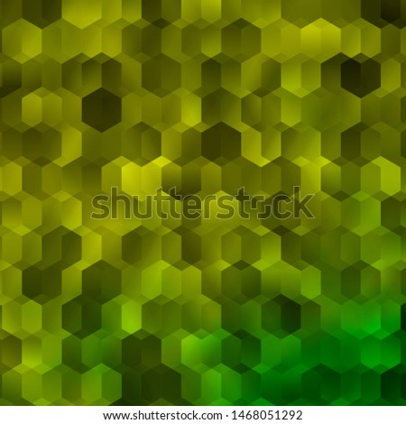 Light Green, Yellow vector pattern with colorful hexagons. Colorful hexagons on blur backdrop. Pattern for ads, leaflets.