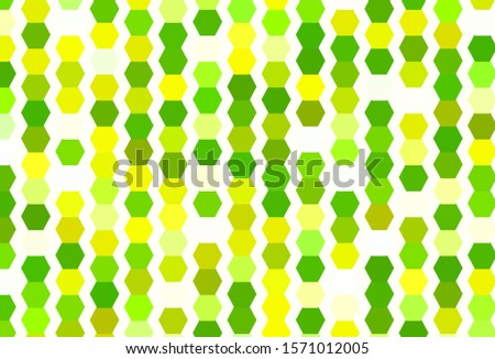 Light Green, Yellow vector pattern with colorful hexagons. Colorful hexagons on blur backdrop. Pattern for landing pages.