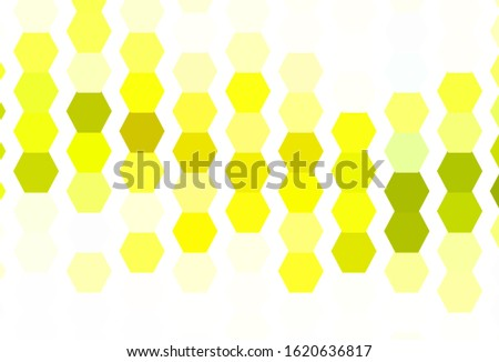 Light Green, Yellow vector pattern with colorful hexagons. Glitter abstract illustration in hexagonal style. New template for your brand book.