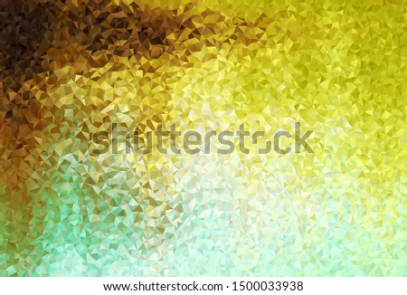 Light Green, Yellow vector polygon abstract background. A sample with polygonal shapes. Polygonal design for your web site.