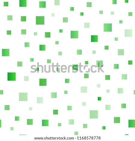 Light Green, Yellow vector seamless pattern in square style. Beautiful illustration with rectangles and squares. Pattern for busines ad, booklets, leaflets