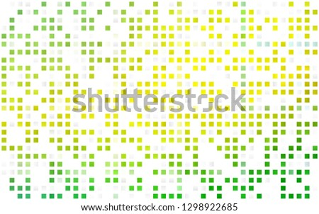 Light Green, Yellow vector seamless template with crystals, rectangles. Rectangles on abstract background with colorful gradient. Design for textile, fabric, wallpapers.