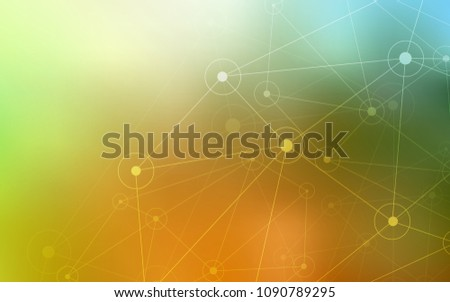 Light Green, Yellow vector template with circles, triangles. Colorful illustration with circles and lines in futuristic style. New design for ad, poster, banner of your website.
