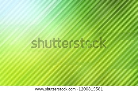 Light Green, Yellow vector texture with colored lines. Blurred decorative design in simple style with lines. Template for your beautiful backgrounds.