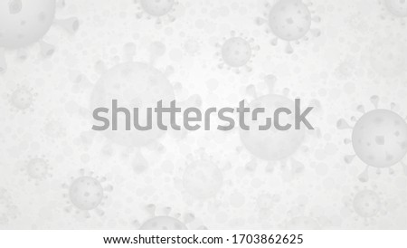 Light grey medical background with Corona Virus cell, COVID 19 infection disease. Coronavirus vector template. Foto d'archivio ©