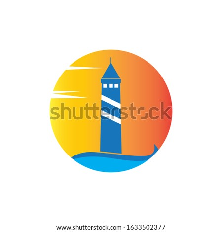 light house icon logo vector