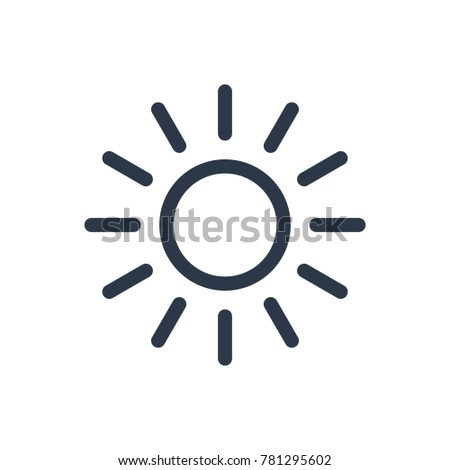 Light icon. Isolated shine and light icon line style. Premium quality vector symbol drawing concept for your logo web mobile app UI design.