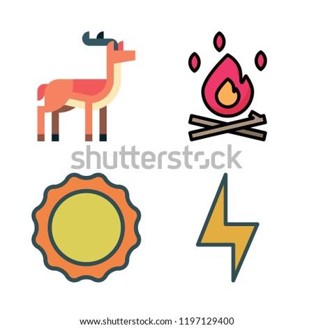 light icon set vector set