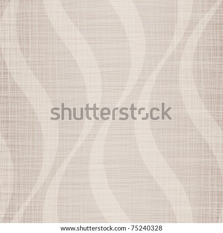 Light linen cotton fabric with a wavy pattern