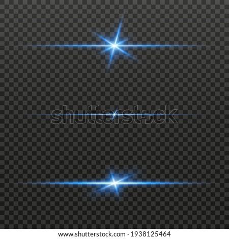 Light lines. Light effect. Beautiful light flares. Lens flares. Luminous sparkling lines. Laser effect. Light rays. Special design of line. Vector illustration. Transparent background. PNG.