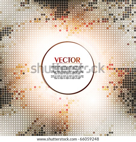 Light mosaic background. Vector