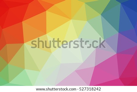 light multicolor polygonal