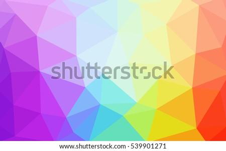 light multicolor polygonal
