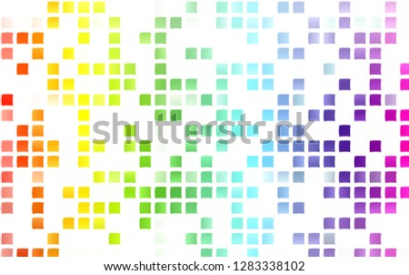 Light Multicolor, Rainbow vector backdrop with rectangles, squares. Rectangles on abstract background with colorful gradient. Best design for your ad, poster, banner.