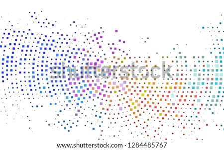 Light Multicolor, Rainbow vector backdrop with rectangles, squares. Rectangles on abstract background with colorful gradient. The template can be used as a background.
