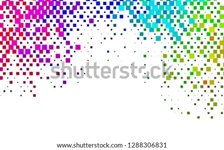 Light Multicolor, Rainbow vector backdrop with rectangles, squares. Rectangles on abstract background with colorful gradient. Pattern can be used for websites.