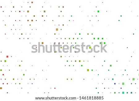 Light Multicolor, Rainbow vector backdrop with rectangles, squares. Rectangles on abstract background with colorful gradient. Pattern for commercials.