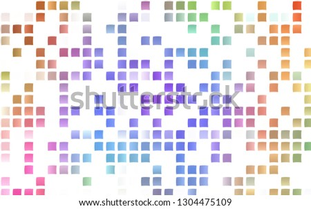 Light Multicolor, Rainbow vector background with rectangles. Rectangles on abstract background with colorful gradient. Smart design for your business advert.