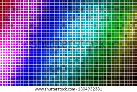 Light Multicolor, Rainbow vector background with rectangles. Rectangles on abstract background with colorful gradient. Best design for your ad, poster, banner.