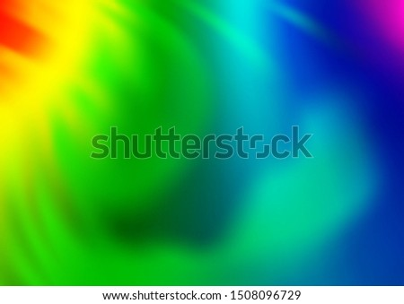 Light Multicolor, Rainbow vector blurred shine abstract pattern. Shining colorful illustration in a Brand new style. The background for your creative designs.