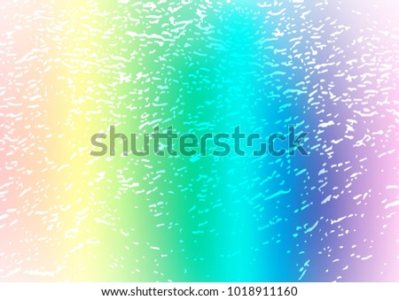 Light Multicolor, Rainbow vector doodle blurred template. Decorative shining illustration with doodles on abstract template. The pattern can be used for coloring books and pages for kids.