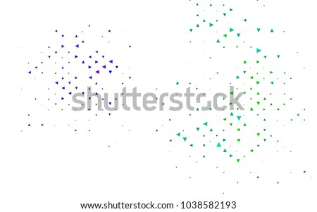 Light Multicolor, Rainbow vector geometric simple minimalistic background, which consist of triangles on white background. Triangular pattern with gradient for your business design.