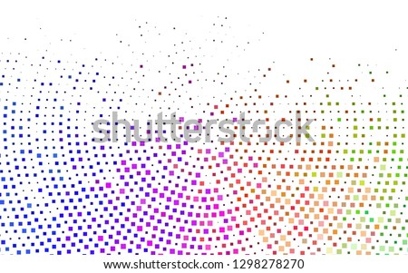 Light Multicolor, Rainbow vector layout with lines, rectangles. Decorative design in abstract style with rectangles. The template can be used as a background.