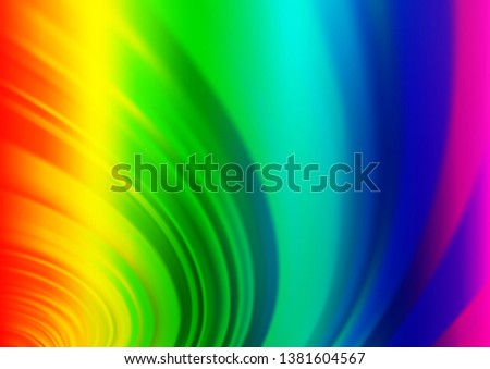 Light Multicolor, Rainbow vector modern elegant template. An elegant bright illustration with gradient. The background for your creative designs.