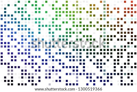 Light Multicolor, Rainbow vector seamless layout with lines, rectangles. Rectangles on abstract background with colorful gradient. Pattern for design of fabric, wallpapers.