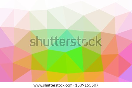 Light Multicolor, Rainbow vector shining triangular background. Shining illustration, which consist of triangles. Completely new design for your business.