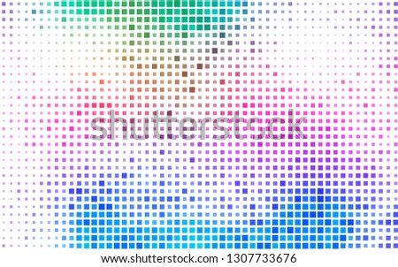 Light Multicolor, Rainbow vector template with crystals, rectangles. Rectangles on abstract background with colorful gradient. Best design for your ad, poster, banner.