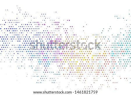 Light Multicolor, Rainbow vector template with crystals, rectangles. Rectangles on abstract background with colorful gradient. Pattern can be used for websites.