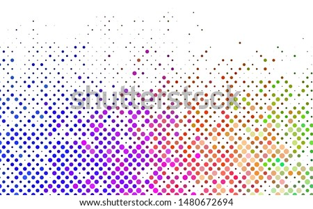 Light Multicolor, Rainbow vector texture with disks. Glitter abstract illustration with blurred drops of rain. Pattern for ads, leaflets.