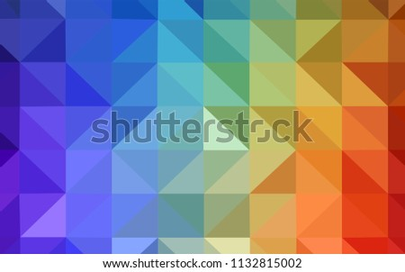 Light Multicolor vector abstract mosaic backdrop. Geometric illustration in Origami style with gradient.  Brand new style for your business design.