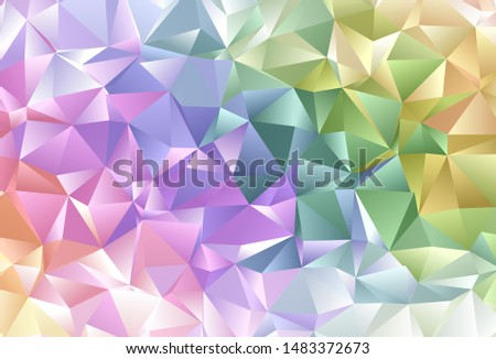 Light Multicolor vector backdrop with lines, triangles. Triangles on abstract background with colorful gradient. Best design for poster, banner.